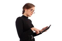 Attraktive Geschäftsfrau berechnet Lizenzfreies Stockfoto
