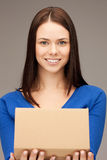 Attraktive Geschäftsfrau mit Sammelpack Lizenzfreies Stockfoto