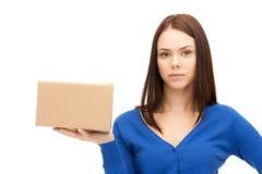 Attraktive Geschäftsfrau mit Sammelpack Stockfotos