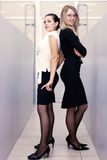 Attraktive Geschäftsfrau zwei im Büro lizenzfreie stockfotos