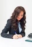 Attraktive Geschäftsfraufunktion Lizenzfreie Stockfotografie