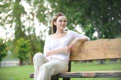 Attraktive gesunde asiatische Frau Stockfoto