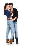 Attraktive glückliche junge Paare Lizenzfreie Stockbilder