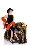 Attraktive glamor Dame stockfotografie