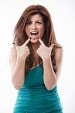 Attraktive hispanische Frau in ihre Vierziger Stockfoto