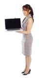 Attraktive indische Frau lokalisiert auf weißem Hintergrund Lizenzfreies Stockbild