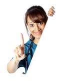 Attraktive indische Frau lokalisiert auf weißem Hintergrund Lizenzfreie Stockfotos