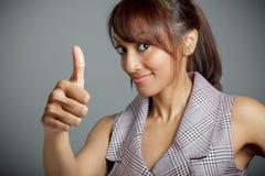 Attraktive indische Frau lokalisiert auf weißem Hintergrund Lizenzfreies Stockfoto