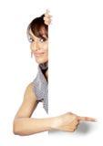 Attraktive indische Frau lokalisiert auf weißem Hintergrund Stockbild