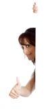 Attraktive indische Frau lokalisiert auf weißem Hintergrund Stockfotos