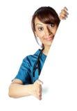 Attraktive indische Frau lokalisiert auf weißem Hintergrund Lizenzfreie Stockbilder