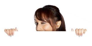 Attraktive indische Frau lokalisiert auf weißem Hintergrund Stockbilder
