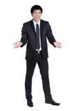Attraktive intelligente Klage des Geschäftsmannes Lizenzfreie Stockfotografie