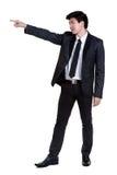 Attraktive intelligente Klage des Geschäftsmannes Stockfoto