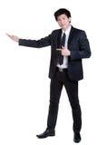 Attraktive intelligente Klage des Geschäftsmannes Lizenzfreies Stockfoto