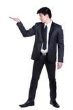 Attraktive intelligente Klage des Geschäftsmannes Stockbild