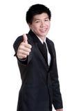 Attraktive intelligente lächelnde gute Klage des Erfolgs des Geschäftsmannes Stockfotos