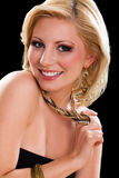 Attraktive junge blonde Frau Lizenzfreie Stockfotos