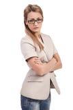 Attraktive junge blonde Geschäftsfrau Stockfoto