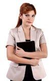 Attraktive junge blonde Geschäftsfrau Lizenzfreie Stockfotos