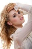 Attraktive junge blonde kaukasische Frau Lizenzfreies Stockbild