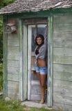 Attraktive junge Boho-Frau Stockfoto