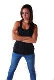 Attraktive junge Frau lizenzfreie stockfotos