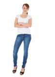 Attraktive junge Frau stockbild