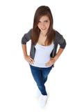 Attraktive junge Frau stockfotos