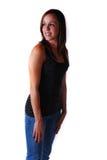 Attraktive junge Frau in den Gläsern lizenzfreie stockbilder