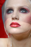Attraktive junge Frau in der Moulin Rougeart Lizenzfreies Stockbild