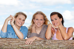 Attraktive junge Frau drei Lizenzfreies Stockbild