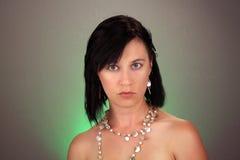 Attraktive junge Frau Headshot Stockfotos