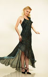 Attraktive junge Frau im Abendkleid. Portrait. stockfoto