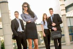 Attraktive junge Geschäftsfrau Stockfotos