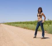 Attraktive junge hispanische Dame stockbild