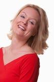 Attraktive junge kaukasische blonde Frau Lizenzfreie Stockfotografie