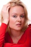 Attraktive junge kaukasische blonde Frau Stockfotografie