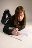 Attraktive junge kaukasische Frau Stockfoto
