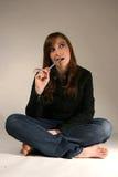 Attraktive junge kaukasische Frau Stockbilder