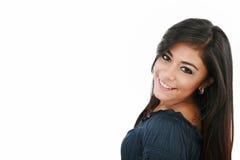Attraktive kaukasische lächelnde Frau stockfotos