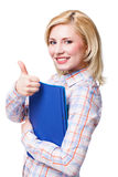 Attraktive lächelnde Blondine Stockbild