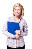 Attraktive lächelnde Blondine Lizenzfreie Stockfotografie