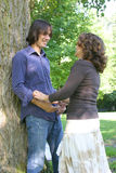 Attraktive Paare in der Liebe Stockfoto