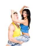 Attraktive Paare, die spielerisch sind Lizenzfreies Stockfoto