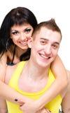 Attraktive Paare, die spielerisch sind Stockfotos