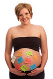 Attraktive schwangere Frau Stockfotografie