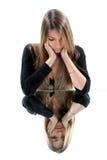 Attraktive Sorgen machende Frau Lizenzfreie Stockbilder