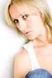 Attraktive traurige Frau Lizenzfreies Stockfoto