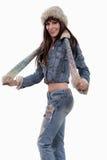 Attraktive Vierziger hispanische Brunettefrau Stockfotos